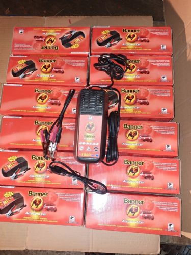 Lot of 12 Banner Accugard car battery charger 1.8A 12v - EU plug SAE Model